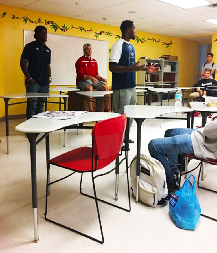 Four Members Of The FAU Football Team Decided To Share Their Stories With  Eighth Through 12th Grade Students At Donna Klein Jewish Academy In Boca  Raton On ...