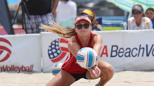 Mackenzie Morris (pictured) and Jeesalyn Kinlaw lost their match on Friday.