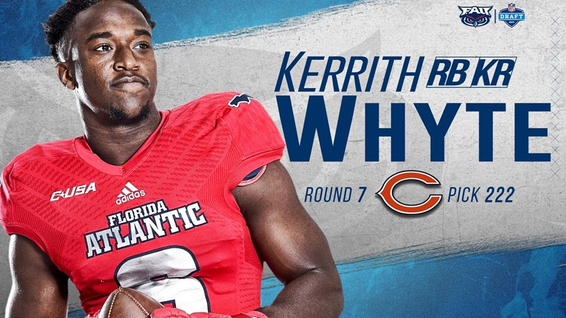 huge selection of 3824d 72021 Football's Kerrith Whyte, Jr Drafted by the Chicago Bears ...